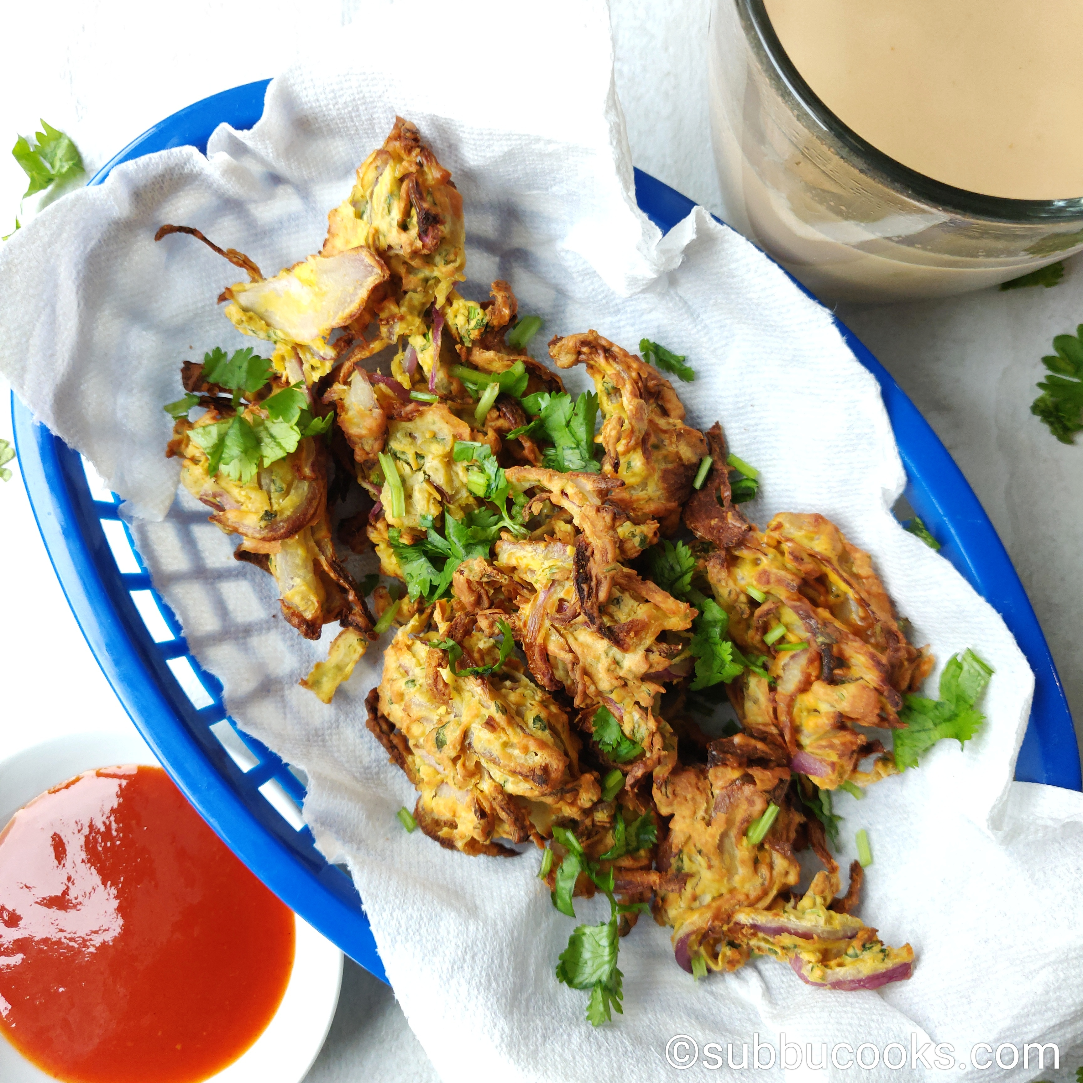 Air Fryer Pakora Onion Pakoda No Fry Healthy Pakore Subbu Cooks