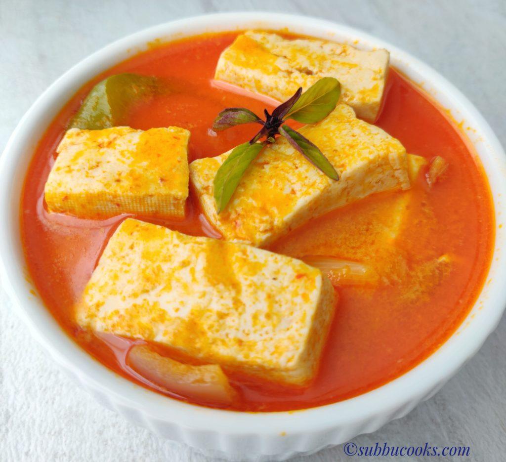 Thai Tofu Red Curry In Instant Pot Low Carb Vegan Subbu Cooks